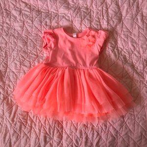 Bright Orange Tutu Dress